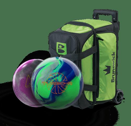 turbo R bowling ball and brunswick bowling bag